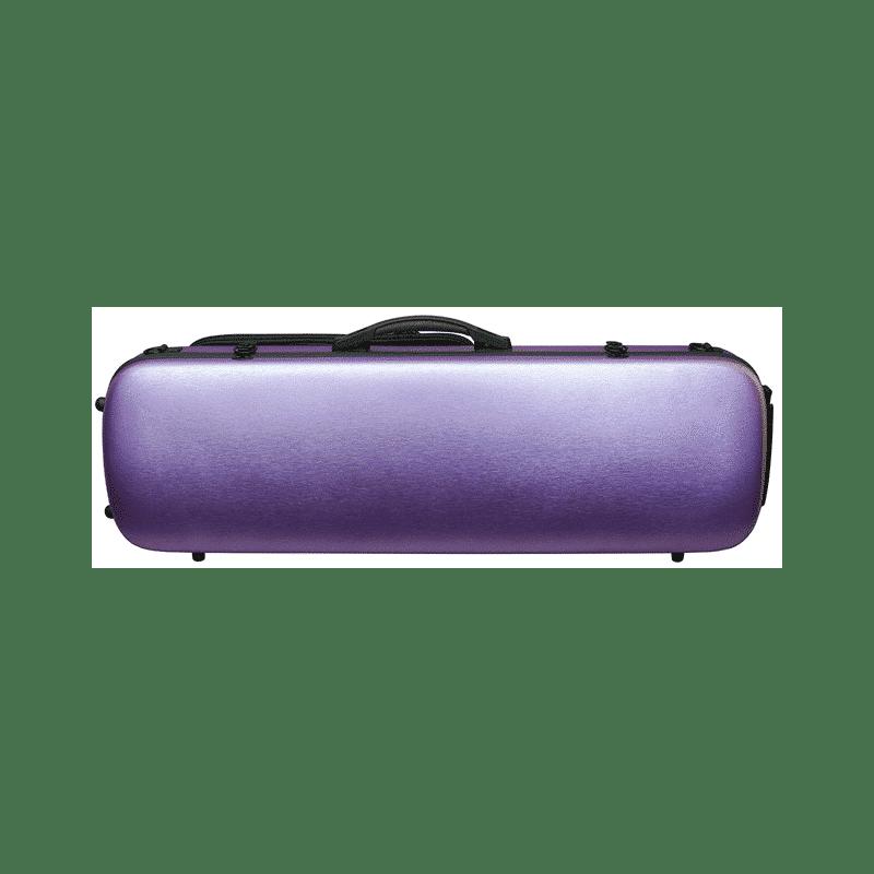 Hidersine-Case-Polycarbonate-Violin-Oblong-Brushed-Purple