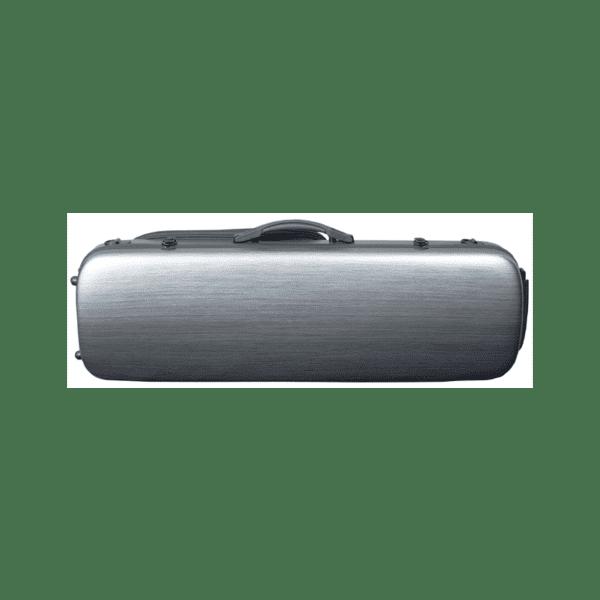 Hidersine-Case-Polycarbonate-Violin-Oblong-Brushed-Silver