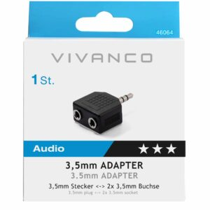 Y adapter 3.5mm, stereo