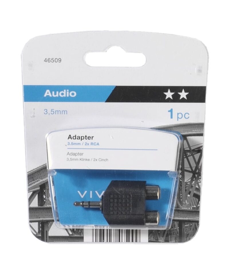 Adapter 3.5 mm / 2 x RCA
